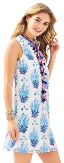 Lilly Pulitzer short dress white/navy/blue/pink on Tradesy Image 1