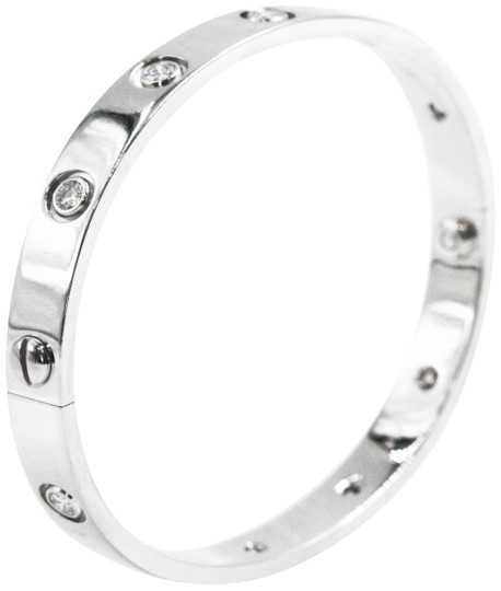 Preload https://img-static.tradesy.com/item/25834621/cartier-vintage-1997-10-diamonds-white-gold-love-bracelet-0-1-540-540.jpg