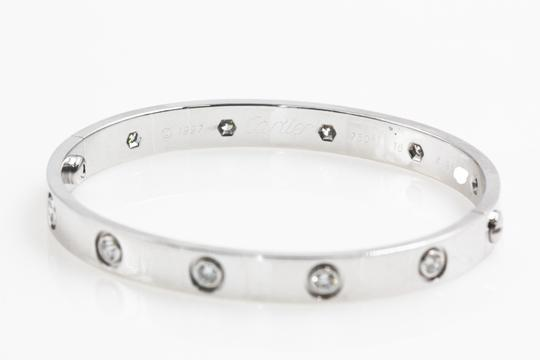 Cartier Cartier Vintage 1997 10 diamonds White Gold Love Bracelet Image 3