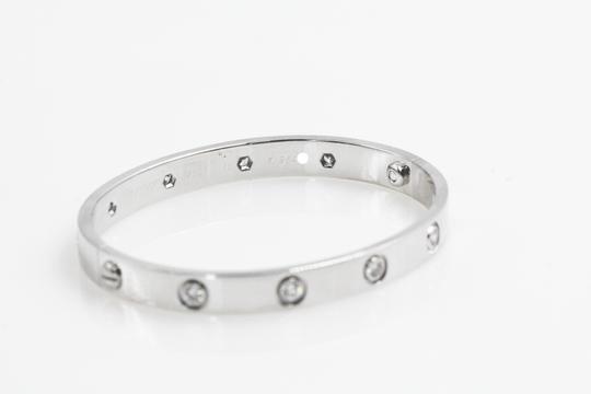 Cartier Cartier Vintage 1997 10 diamonds White Gold Love Bracelet Image 5
