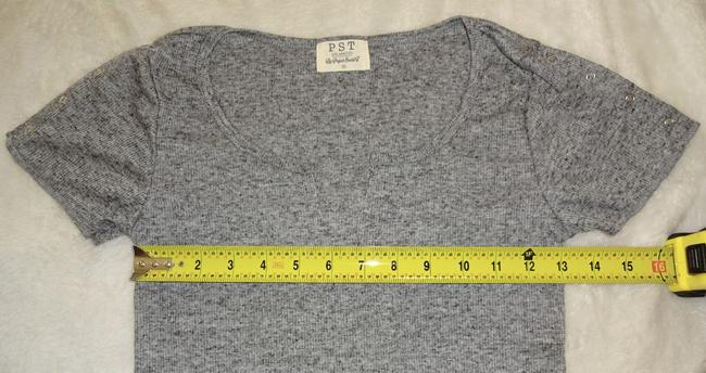 Project Social T Subtle Ribbed Neck Sleeve Versatile T Shirt Gray Image 4