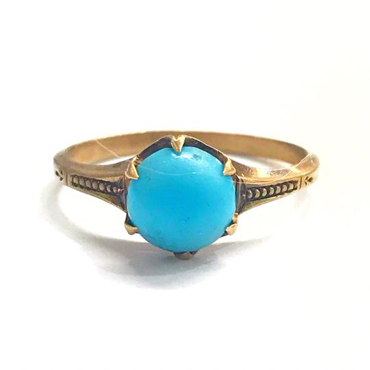 Preload https://img-static.tradesy.com/item/25834627/genuine-estate-collection-yellow-gold-and-turquoise-ring-0-0-540-540.jpg