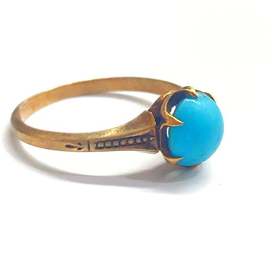 DeWitt's BEAUTIFUL!! GENUINE DEWITT ESTATE COLLECTION!! Yellow Gold and Turquoise Ring Image 1