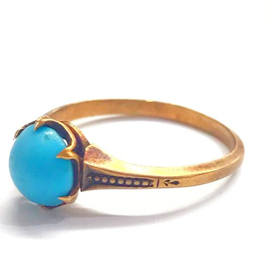 DeWitt's BEAUTIFUL!! GENUINE DEWITT ESTATE COLLECTION!! Yellow Gold and Turquoise Ring Image 2