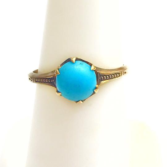 DeWitt's BEAUTIFUL!! GENUINE DEWITT ESTATE COLLECTION!! Yellow Gold and Turquoise Ring Image 3