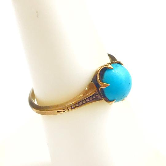 DeWitt's BEAUTIFUL!! GENUINE DEWITT ESTATE COLLECTION!! Yellow Gold and Turquoise Ring Image 4