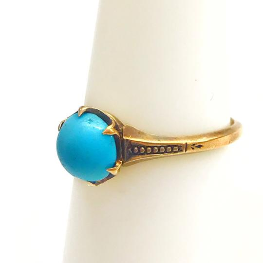 DeWitt's BEAUTIFUL!! GENUINE DEWITT ESTATE COLLECTION!! Yellow Gold and Turquoise Ring Image 5
