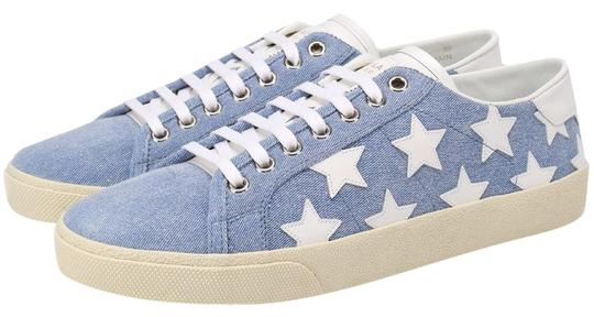 Preload https://img-static.tradesy.com/item/25834628/saint-laurent-blue-court-classic-denim-low-top-washed-blueoff-white-stars-sneakers-size-eu-36-approx-0-1-540-540.jpg