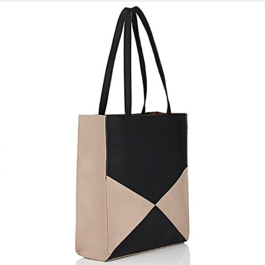 Barneys New York Tote in Black/Putty Image 1