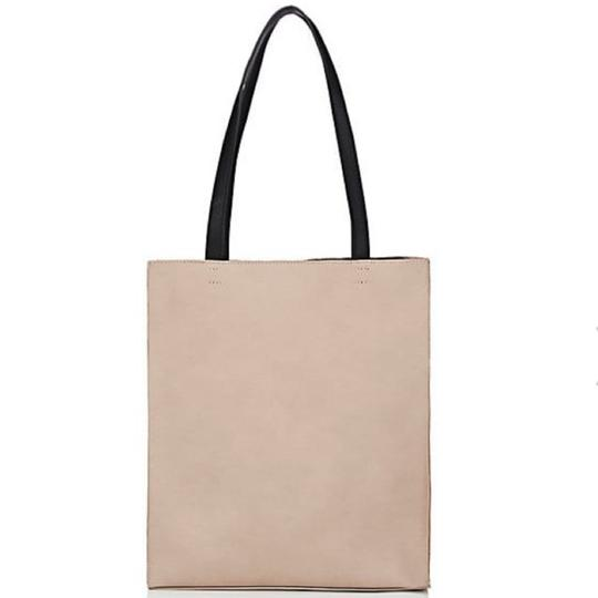 Barneys New York Tote in Black/Putty Image 2