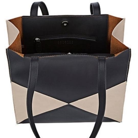Barneys New York Tote in Black/Putty Image 3