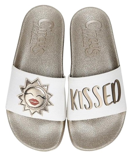 Circus by Sam Edelman Pool Slide White Bronze Sandals Image 0