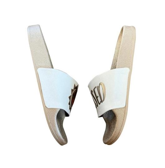 Circus by Sam Edelman Pool Slide White Bronze Sandals Image 2