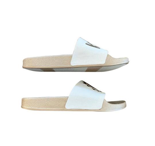 Circus by Sam Edelman Pool Slide White Bronze Sandals Image 3