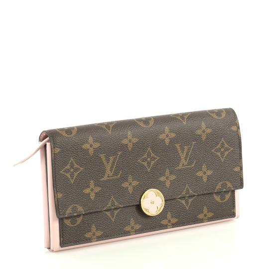 Louis Vuitton Flore Wallet Monogram Canvas Wristlet in brown Image 2