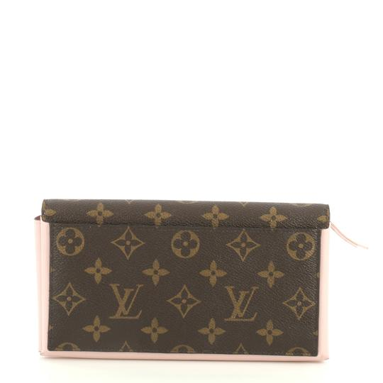 Louis Vuitton Flore Wallet Monogram Canvas Wristlet in brown Image 3