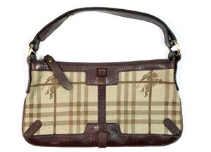 Burberry Pouchette Haymarket Nova Check Shoulder Bag