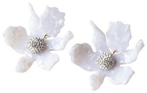 Lele Sadoughi Lele Sadoughi Small Crystal Lily Earrings