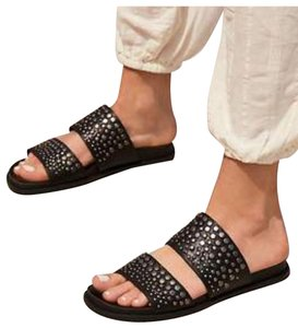 Lust For Life Black and silver Sandals
