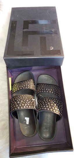 Lust For Life Black and silver Sandals Image 1