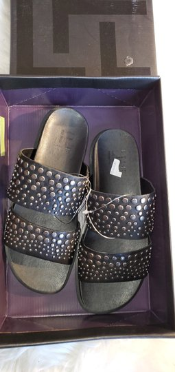 Lust For Life Black and silver Sandals Image 2