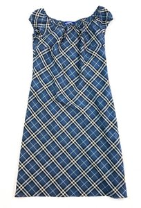 Burberry Blue Label short dress BLUE Nova Check Plaid Japan on Tradesy