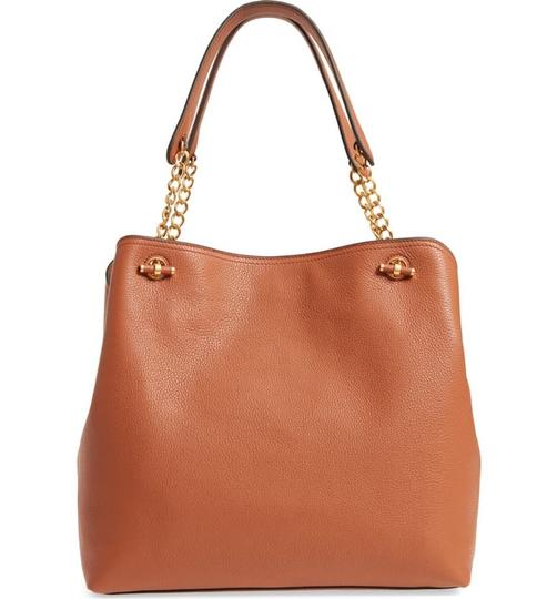 Tory Burch Leather Chelsea Tote in classic tan Image 2