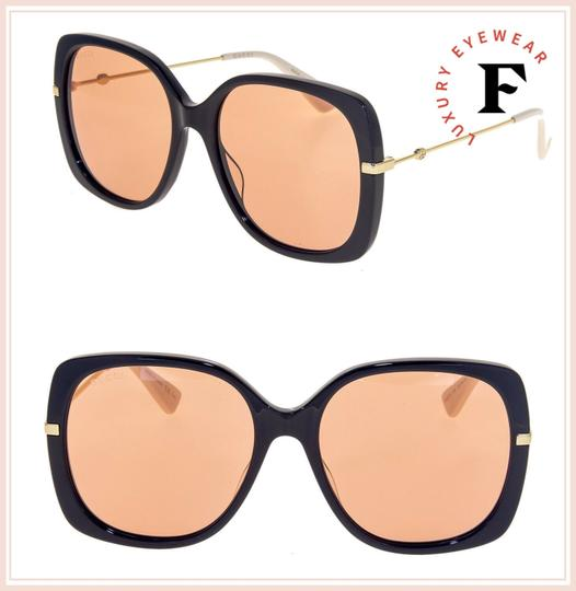 Gucci Gold Black Orange Oversized Retro Sunglasses GG0511S Image 1
