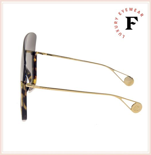 Gucci Havana Gold Black Mirrored Mask Rimless GG0540S Image 2