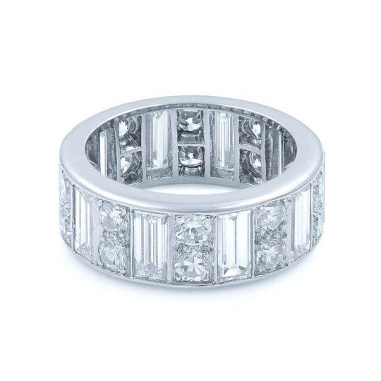 Preload https://img-static.tradesy.com/item/25834707/platinum-baguette-and-round-diamonds-eternity-band-size-575-400cts-ring-0-3-540-540.jpg