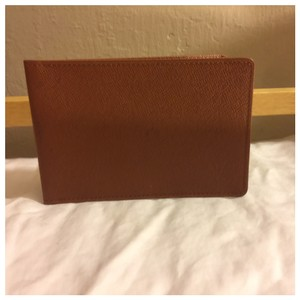Louis Vuitton Authentic Louis Vuitton Unisex Brown Card Holder Wallet