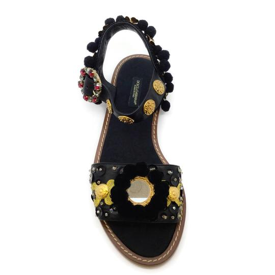 Dolce&Gabbana Black / Gold Sandals Image 3