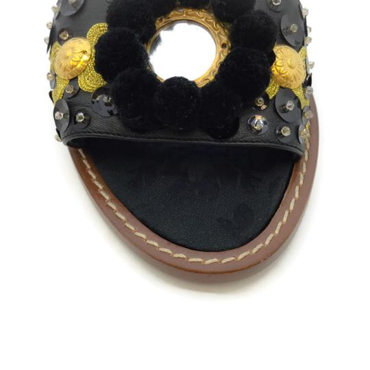Dolce&Gabbana Black / Gold Sandals Image 4