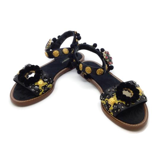 Dolce&Gabbana Black / Gold Sandals Image 5