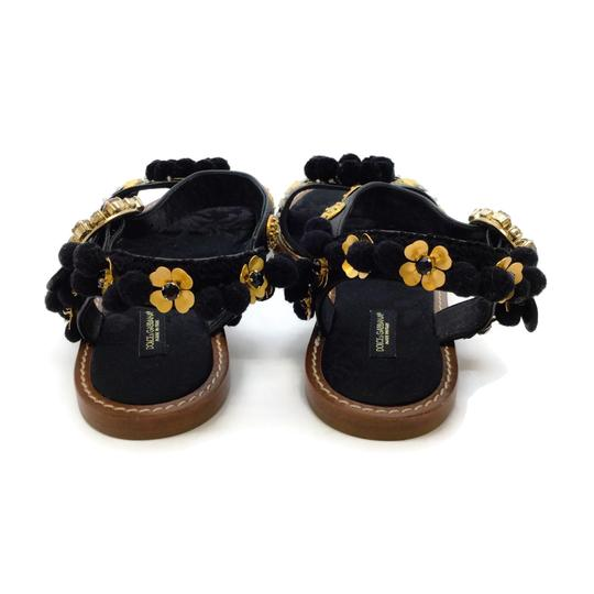 Dolce&Gabbana Black / Gold Sandals Image 6