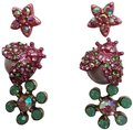 Betsey Johnson Pink New 3 Sets Of Studs Earrings Betsey Johnson Pink New 3 Sets Of Studs Earrings Image 1