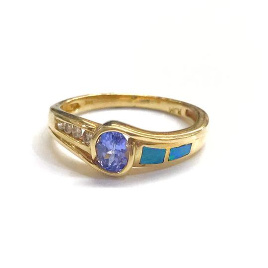 Preload https://img-static.tradesy.com/item/25834741/genuine-estate-collection-14-karat-yellow-gold-tanzanite-opal-and-diamond-ring-0-0-540-540.jpg
