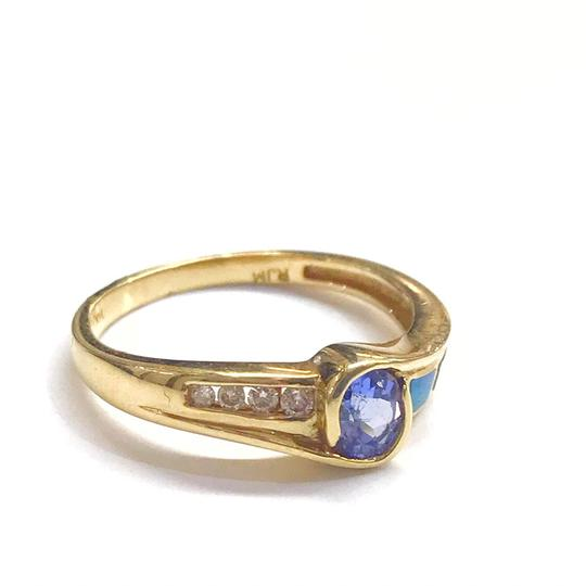 DeWitt's BEAUTIFUL!! GENUINE DEWITT ESTATE COLLECTION!! 14 Karat Yellow Gold, Tanzanite, Opal and Diamond Ring Image 1