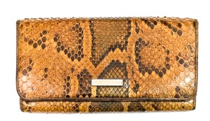 Burberry BURBERRY PYTHON SNAKESKIN CONTINENTAL WALLET CLUTCH