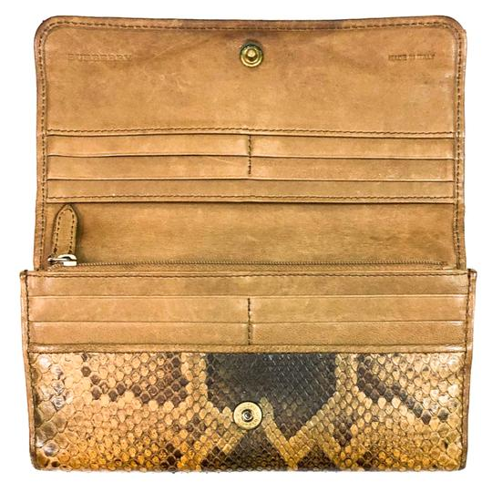 Burberry BURBERRY PYTHON SNAKESKIN CONTINENTAL WALLET CLUTCH Image 3