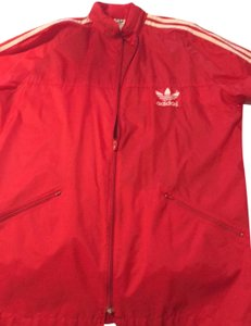 adidas Originals by Alexander Wang Red/White Leather Jacket