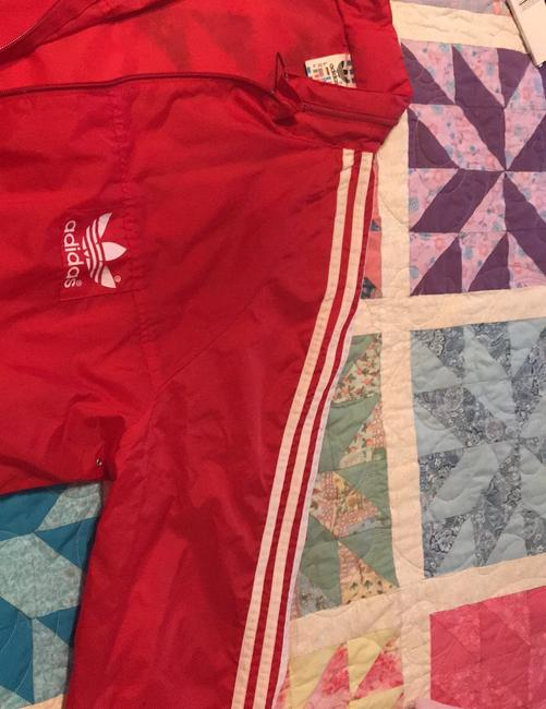 adidas Originals by Alexander Wang Red/White Leather Jacket Image 2