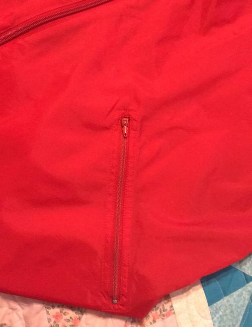 adidas Originals by Alexander Wang Red/White Leather Jacket Image 3