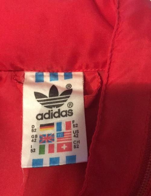 adidas Originals by Alexander Wang Red/White Leather Jacket Image 5