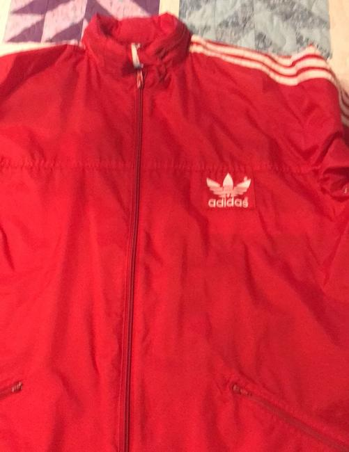 adidas Originals by Alexander Wang Red/White Leather Jacket Image 6