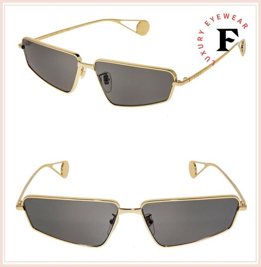 Gucci Gold Black Thin Stylized Metal Retro Sunglasses GG0537S Unisex Image 1