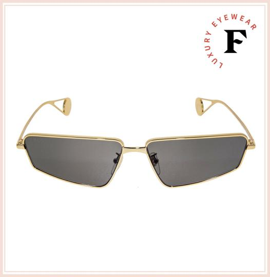 Gucci Gold Black Thin Stylized Metal Retro Sunglasses GG0537S Unisex Image 3