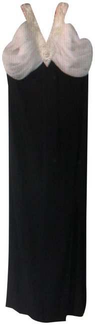 Item - Black With Decorative Neckless Long Formal Dress Size 6 (S)
