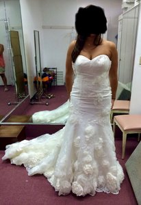 Ivory Mix Sweetheart Neck Gown Vintage Wedding Dress Size 10 (M)