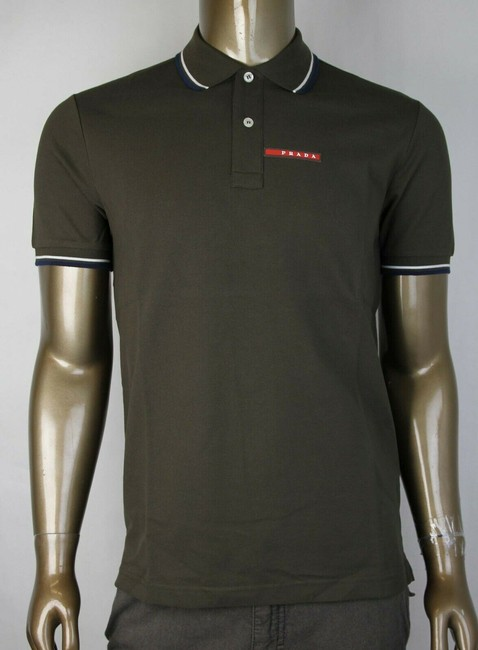 Item - Olive Green Cotton Sleeve Polo with Logo 2xl Sjj887 Selva Shirt